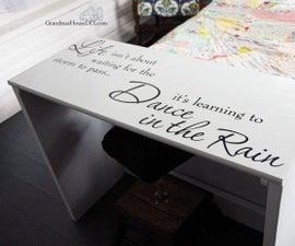 Country Girl Desk Furniture Makeover