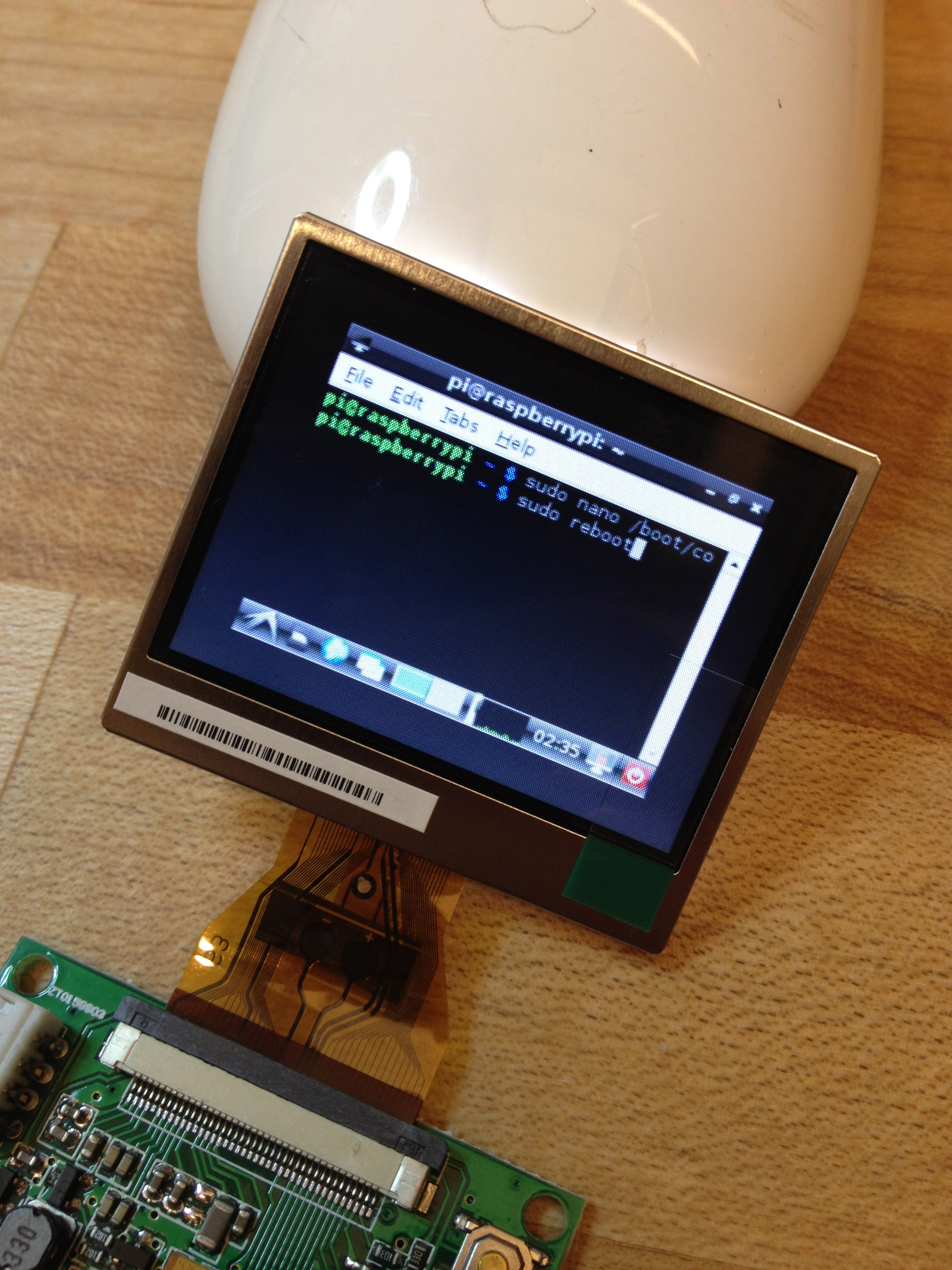 Picture of Working With the Miniature LCD Screen
