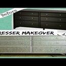 DIY Dresser Makeover With Glitter