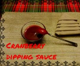 Cranberry dipping sauce