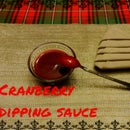 Cranberry dipping sauce