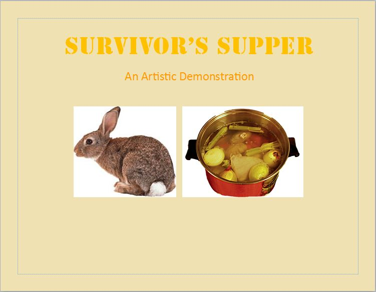 Picture of Survivor's Supper- How to Turn an Animal Into Food **WARNING GRAPHIC CONTENT**