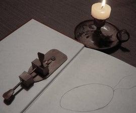 Cardboard van Leeuwenhoek microscope