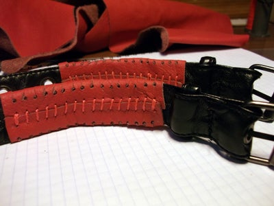 A Bracelets From Old Leather Jacket