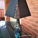 Recycled Bottle Steampunk Lamp