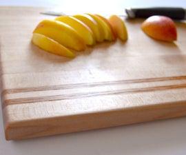 Maple Edge Grain Cutting Board with Oak accents