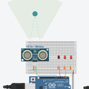 Ultrasonic Distance Sensor in Arduino with Tinkercad