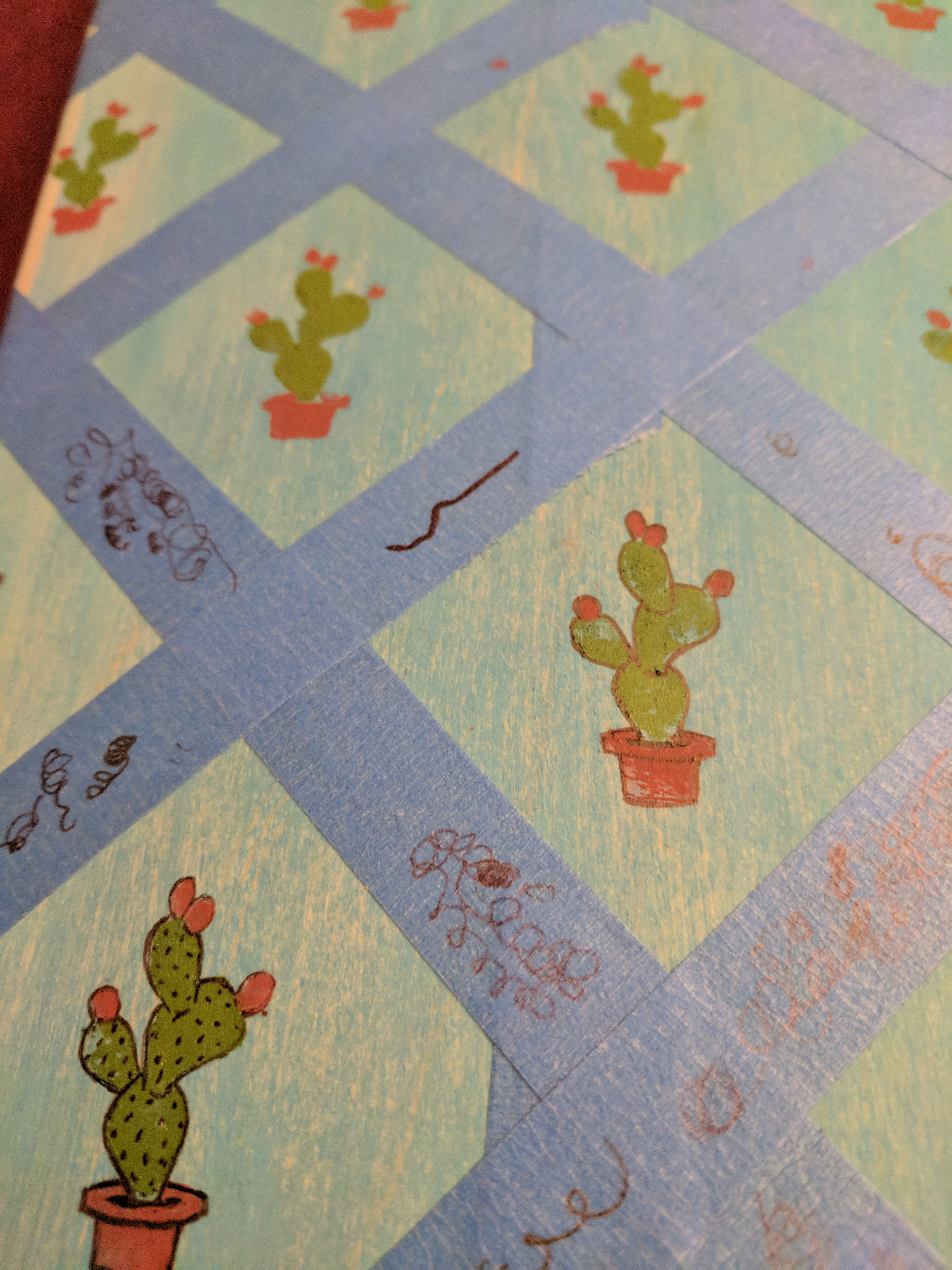 Picture of Artwork - Cactus Pattern