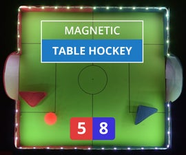 DIY Magnetic Table Hockey With Cardboard, RGB Lights and Sensors