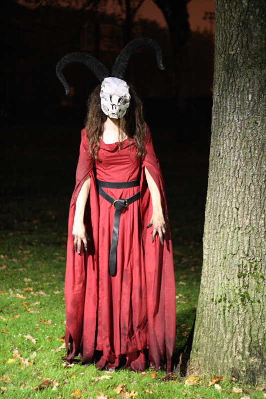 Picture of Sorceress With Skull Mask and Horns