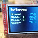 "Thermometer With Temperature Relative colour on a  2"" TFT Display and Multiple Sensors"