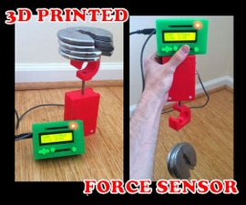 3D Printed Force Sensor for the Classroom