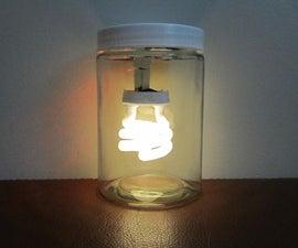 単三電池で灯す蛍光灯ランタン