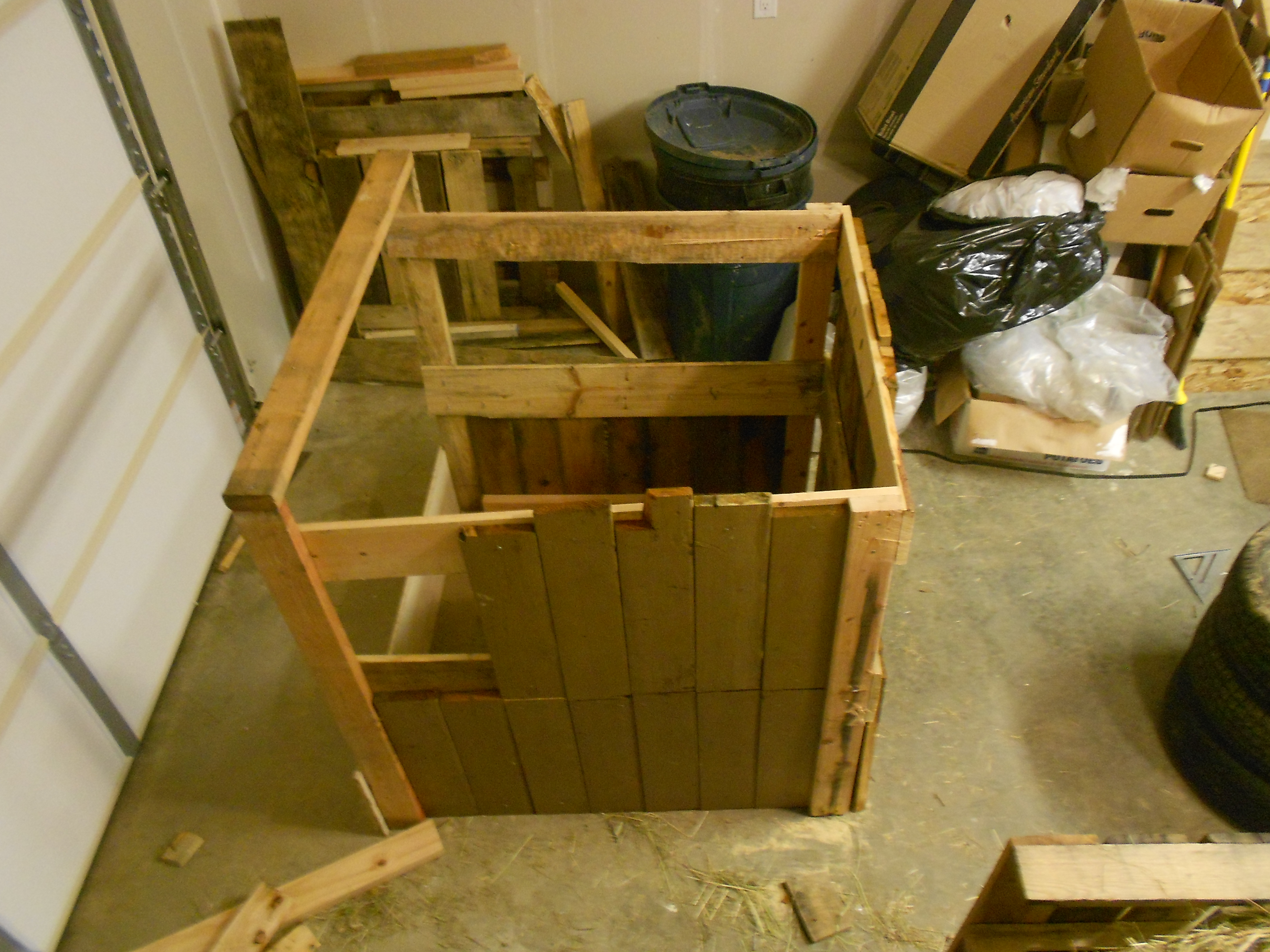 Picture of The Strangest Wooden Compost Box Ever.