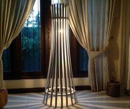 Easy Elegant Slat Wood Floor lamp