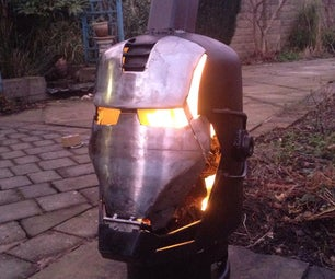 Ironman \ War Machine Wood Burner