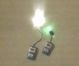 Single LED Flashlight on 9 volt !!