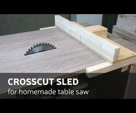 DIY: Crosscut sled for homemade table saw (video)