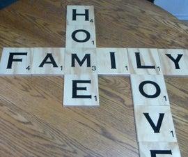 Custom Large Scrabble Letters