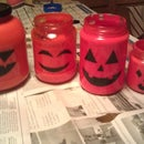 Last Minute Halloween Glass Bottle Lantern