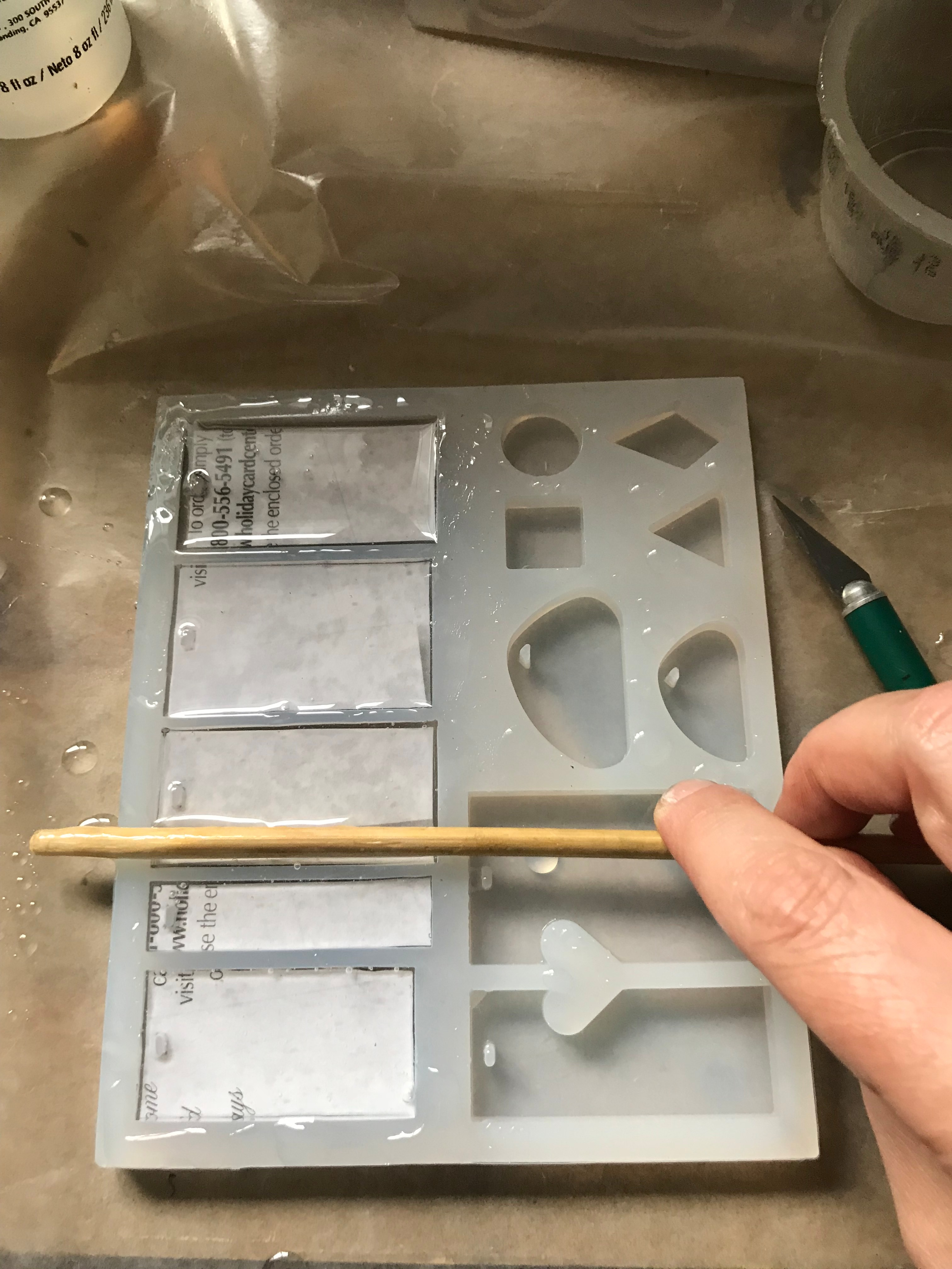 Picture of Prepping for Next Resin Pour
