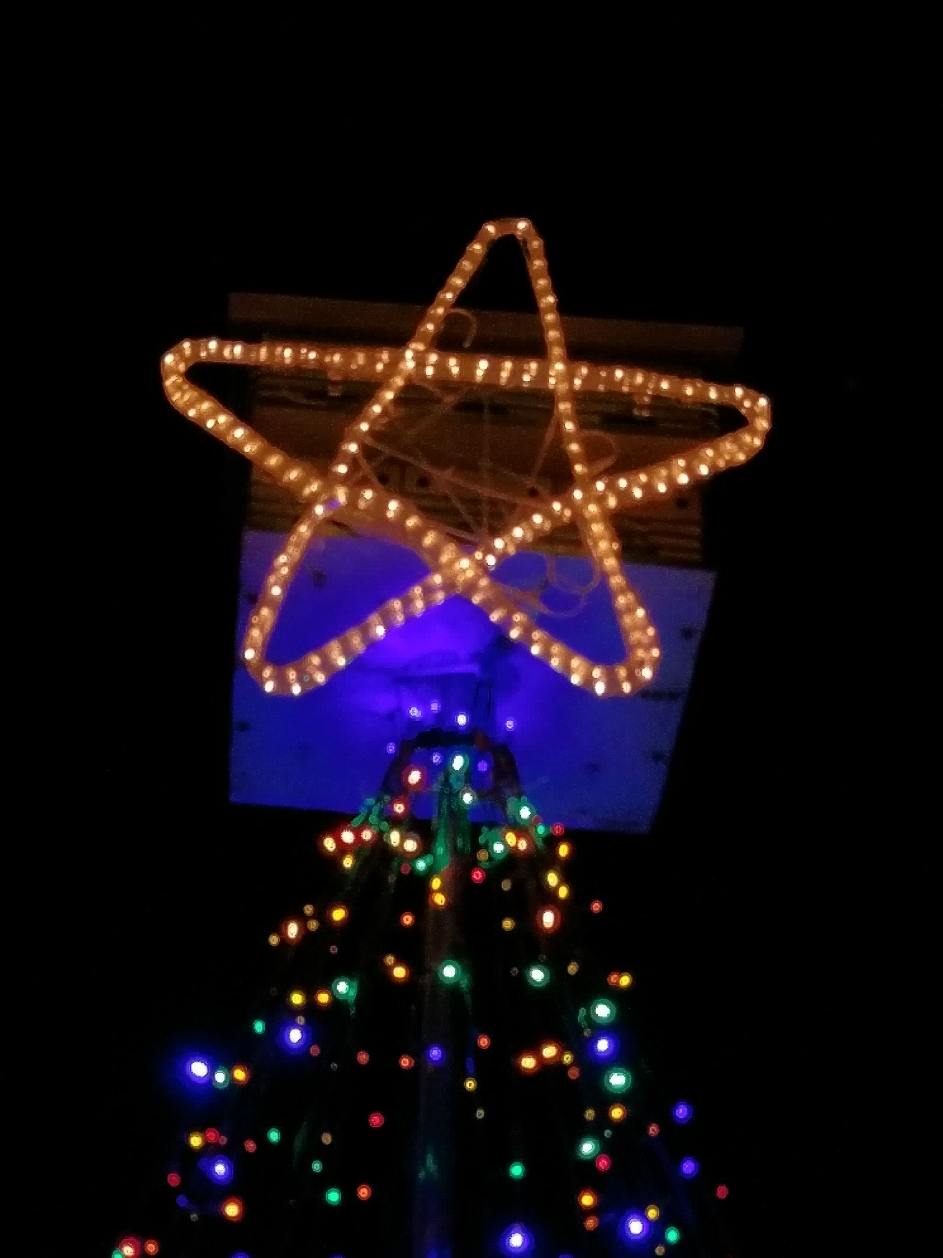 Picture of Intro:  DIY Lighted Star ~ From 5 Coat Hangers & a Rope Light