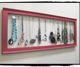 Krylon Dual Paint + frame = necklace display