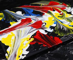 Fluid Painting With String Pulling #1