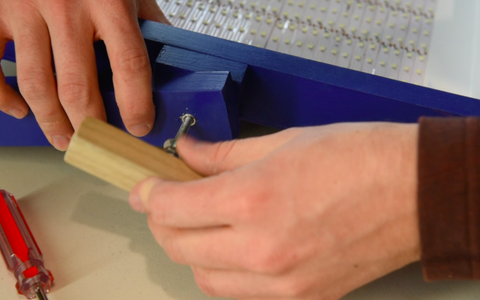 Attaching the Arms to the Panel