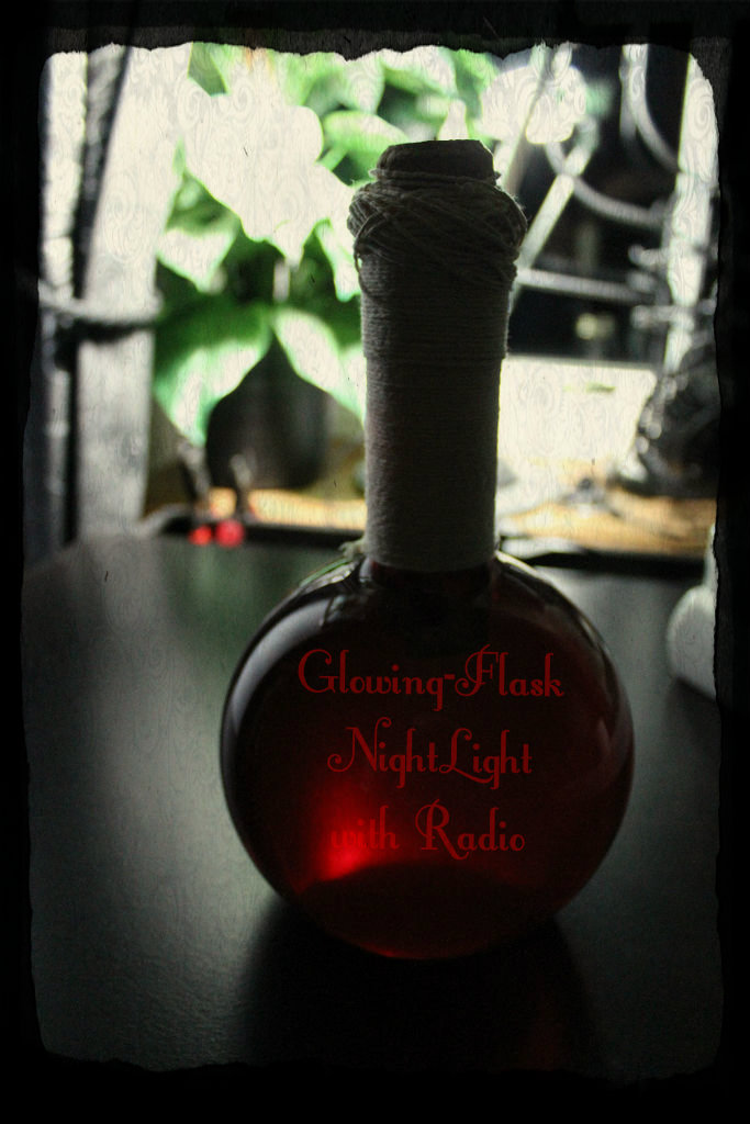 Picture of Glowing-Flask NightLight, [with Radio]