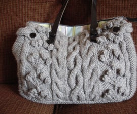 Cabled purse