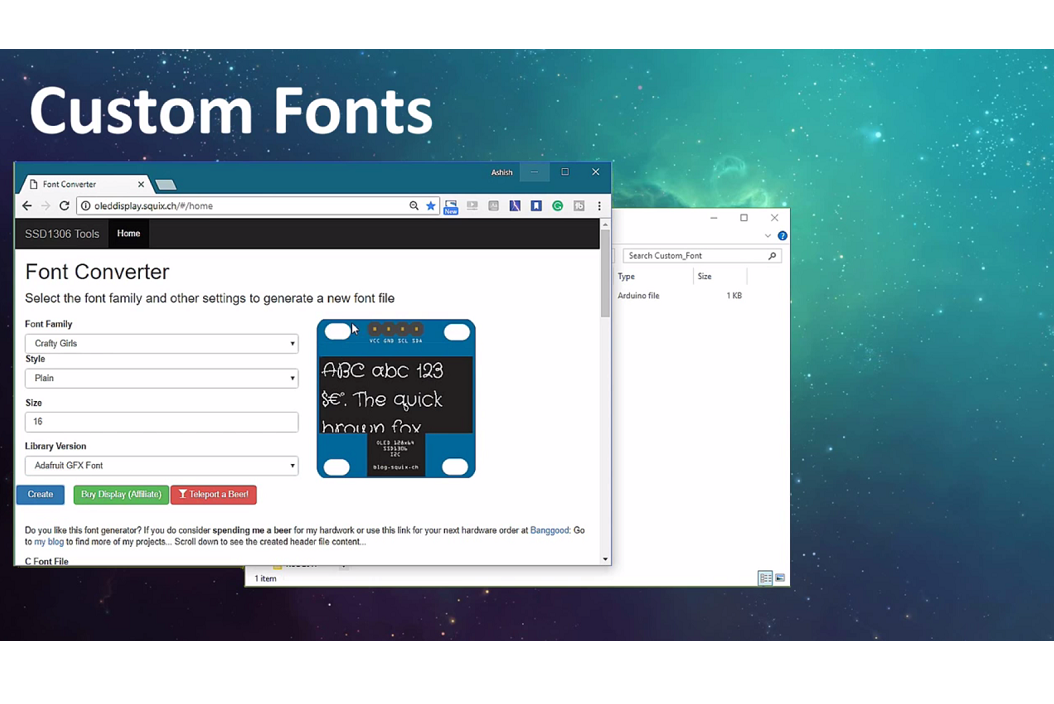 Picture of Customizing Text & Adding Images
