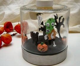Halloween Diorama Clock