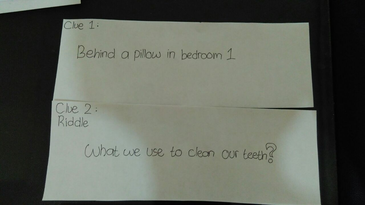 Picture of Write Each Clue on a Separate Sheet and Hide the Clues.