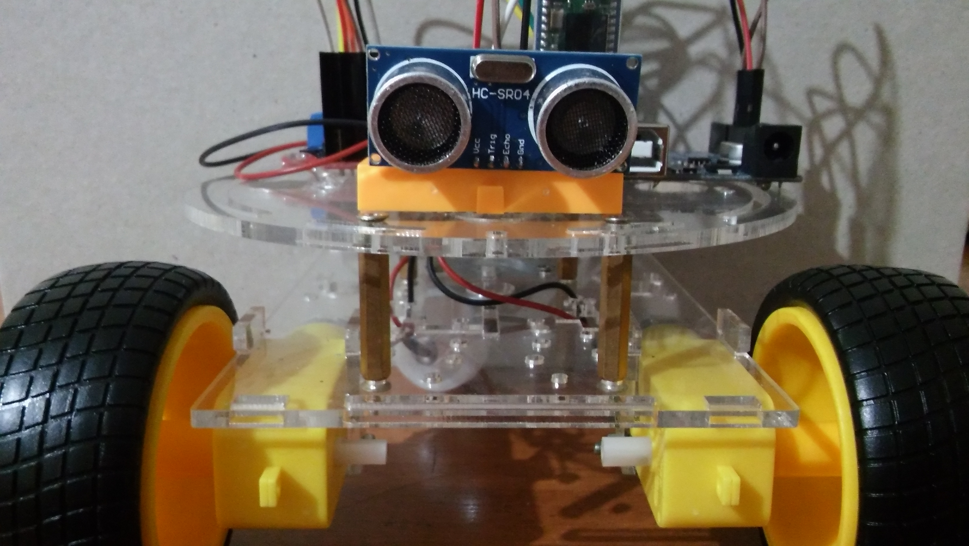 Picture of Obstacle Avoiding and Manual Controllable Robot Using Android Phone