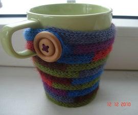 I-cord easy mug-cosy