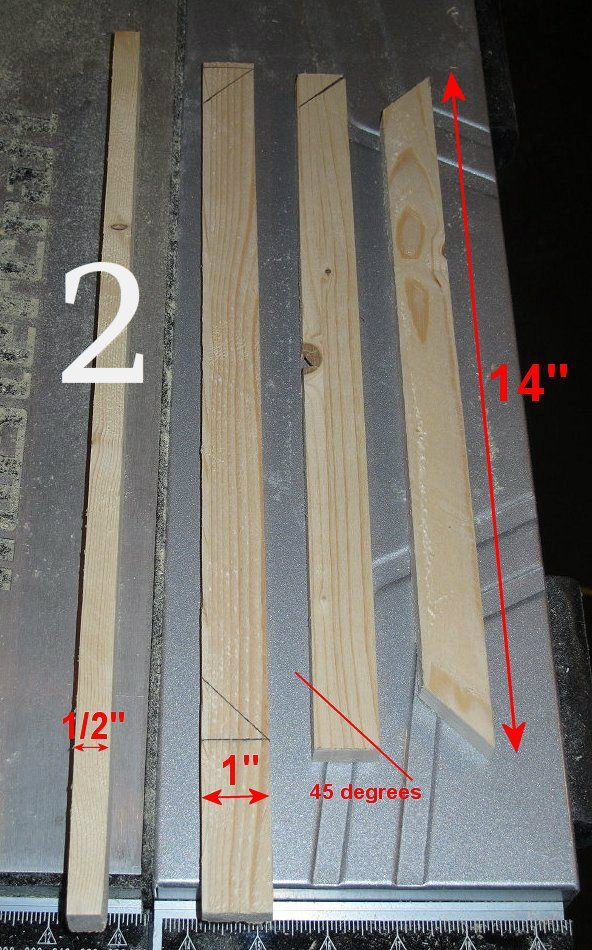 Picture of Squaring the Side Table, Making Parts for a Future Step