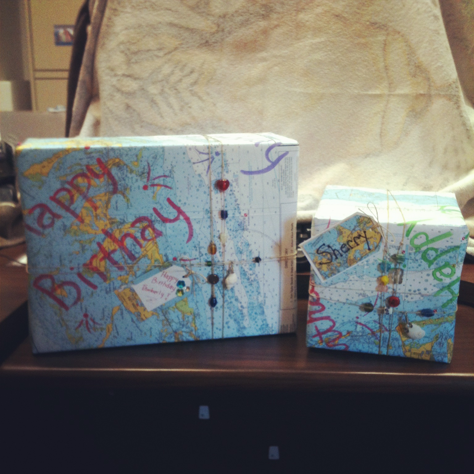 Picture of Make Wrapping Paper Out of Recycled Map or Chart