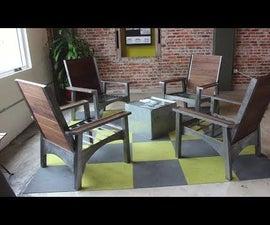 Modern Adirondack Lounge Chairs | DIY