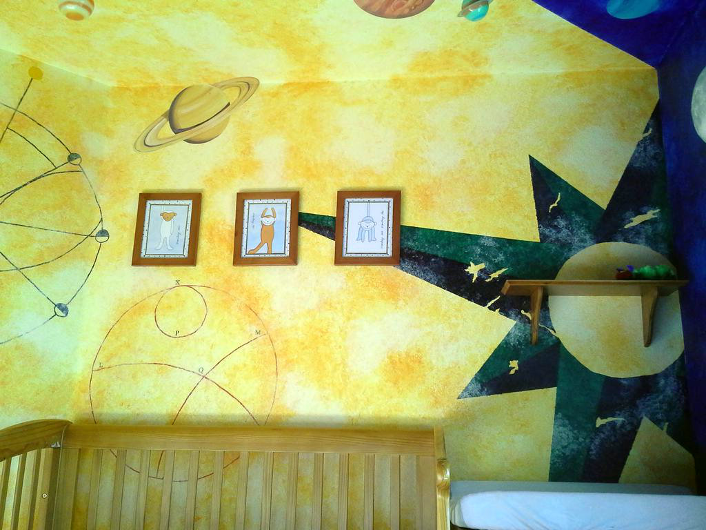 Picture of Painting Mariner's Compass and Old Astronomical Charts.