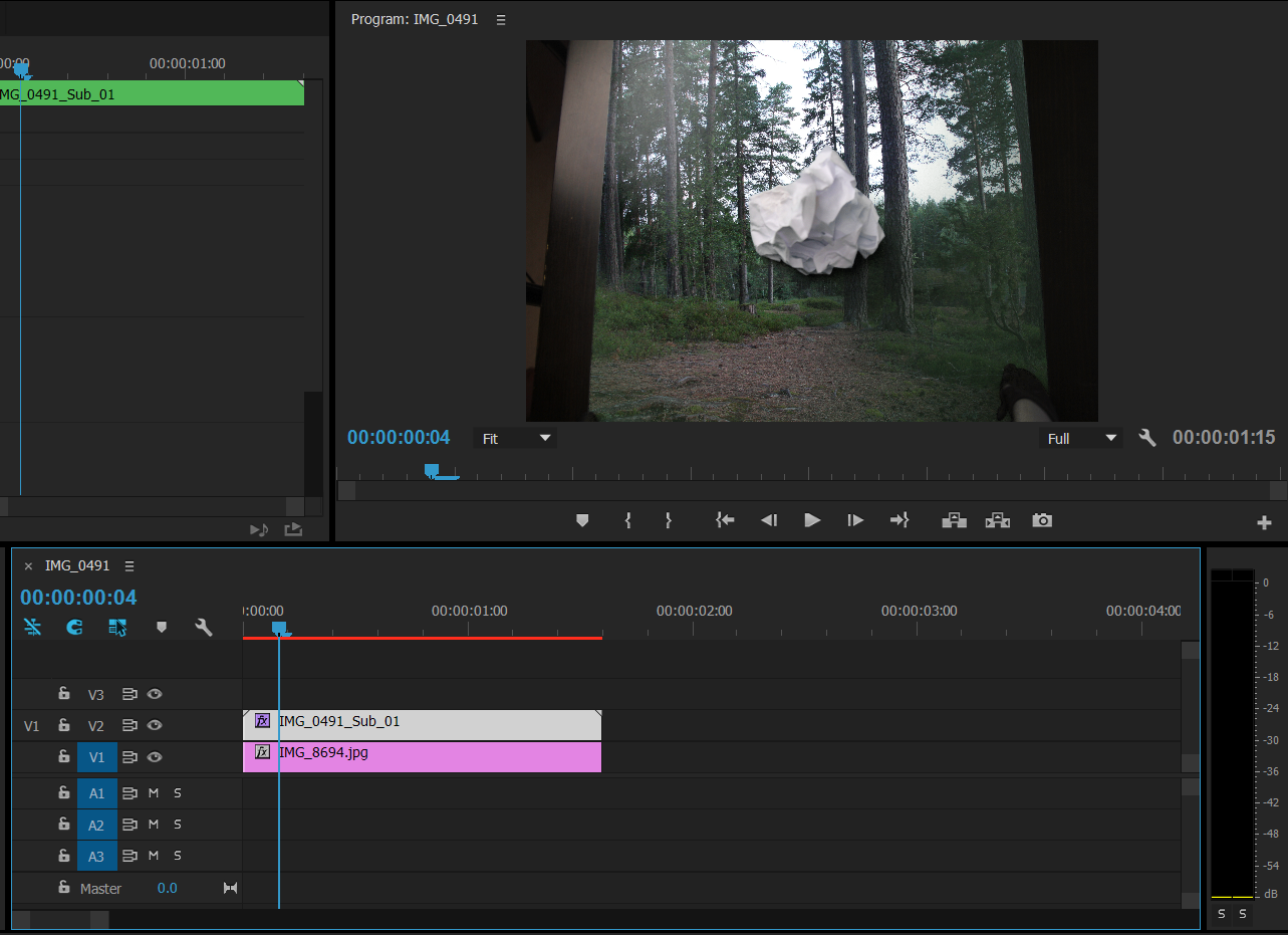 Picture of Processing in Premiere