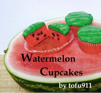 Watermelon Cupcakes: Made With Real Watermelon