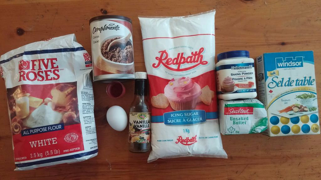 Picture of Ingredients for  Chocolate Cake