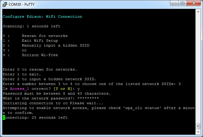 Picture of Configure the Edison Part 1 - Wifi and Network Tools