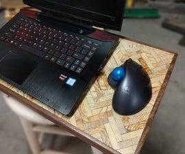 Upcycled Herringbone Laptop Desk