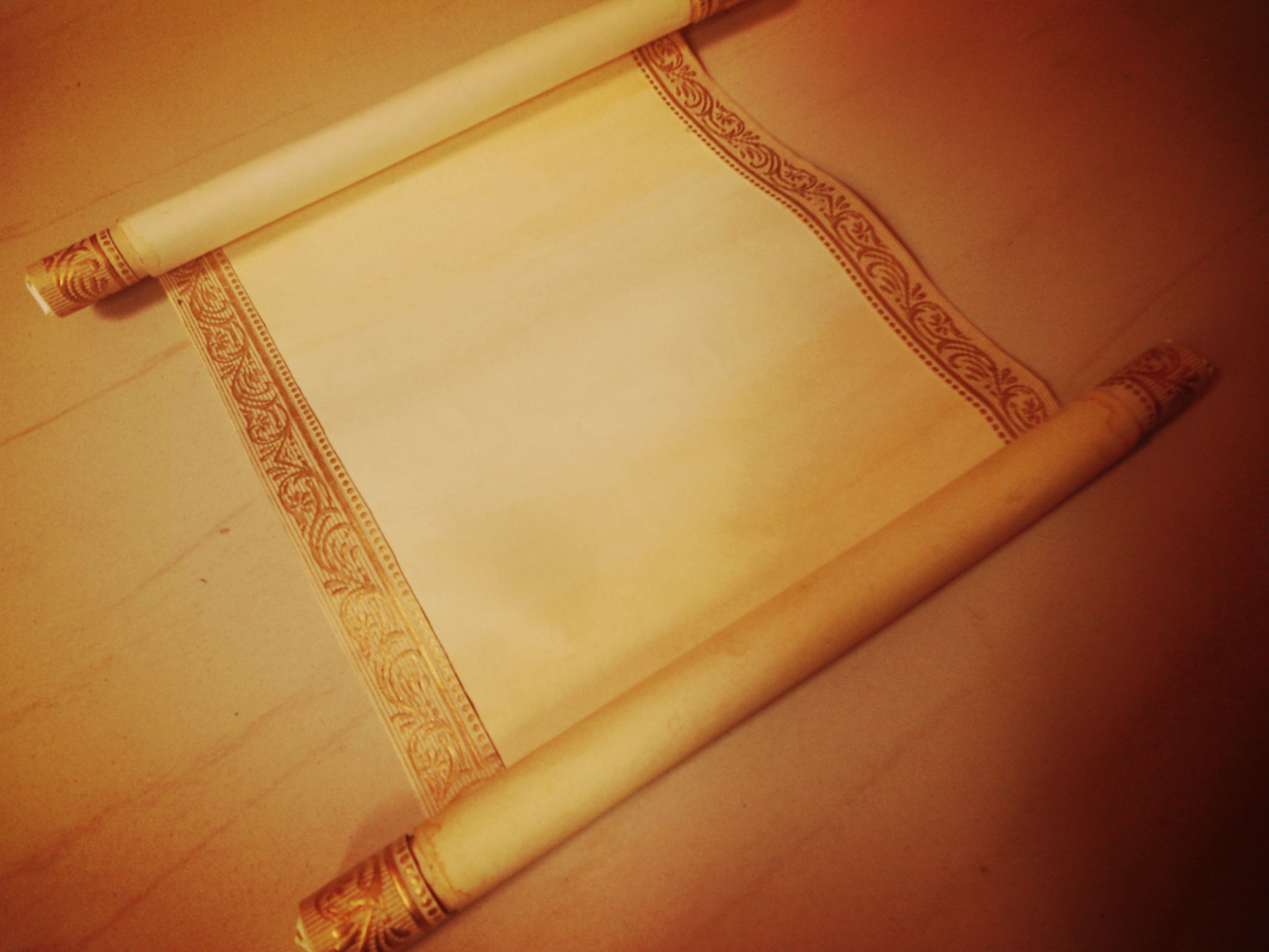 Picture of Use Glue and Attach the Attach the Paper Stick to the Top and Bottom of the Invitation Paper.
