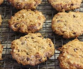 Gluten Free Peanut Butter Oatmeal Chocolate Chip Cookies