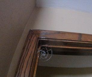 Hot Glue Spider Web