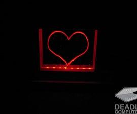 DIY LED Plexiglass Heart