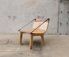 DIY Modern Curved Plywood Lounger Chair
